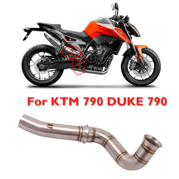 PQZATX Motorcycle Exhaust Mid Link Pipe Middle Pipe Connecting 51Mm Muffler Modified Exhaust Tube For 790 Duke 790