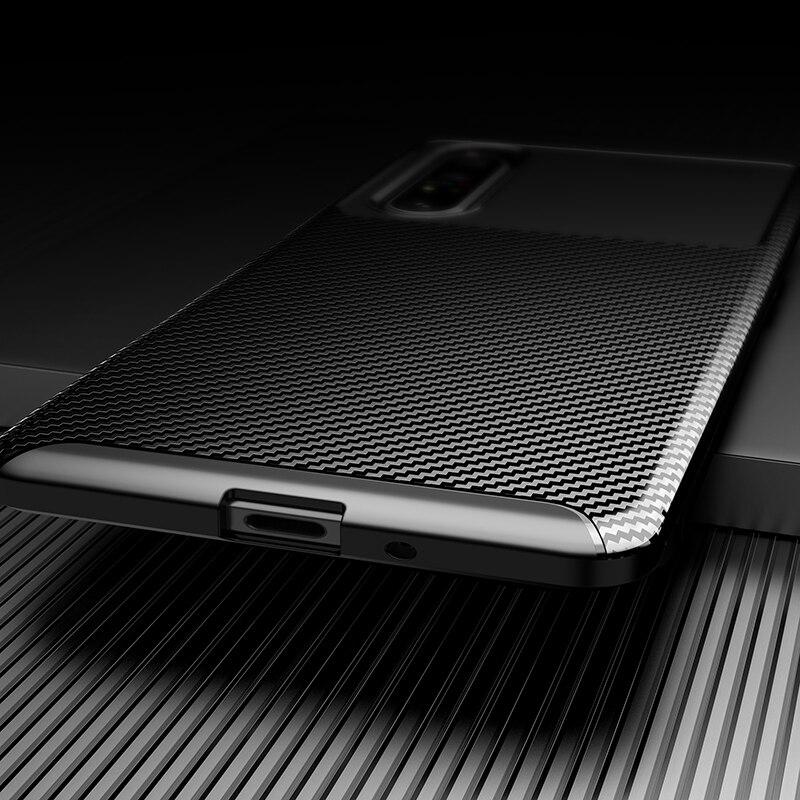 Silicone Protective Phone Case For Sony Xperia 5 II Carbon Fiber Soft TPU Cover Case For Sony Xperia 10 II 1 II Xperia 20 5 8 (4)