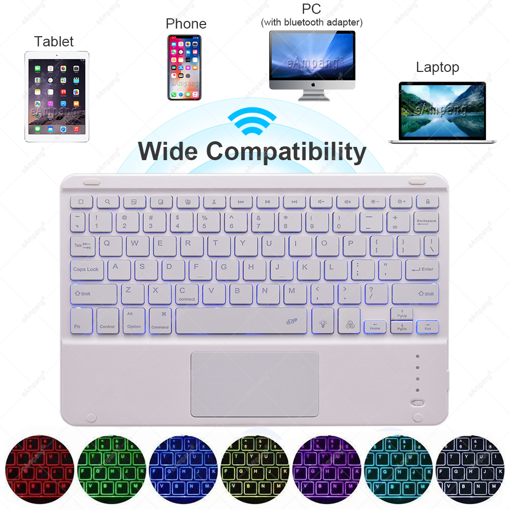 with A2200 10.2 Backlit A2232 Case Generation Touchpad For 7th A2198 2019 8th Keyboard iPad