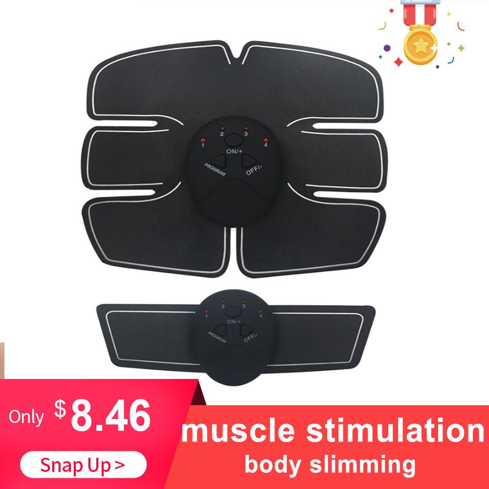 Electric Muscle Stimulator Abdominal Stimulation Muscle Exerciser Training Body Slimming Machine Fat Burning Fitness Massage