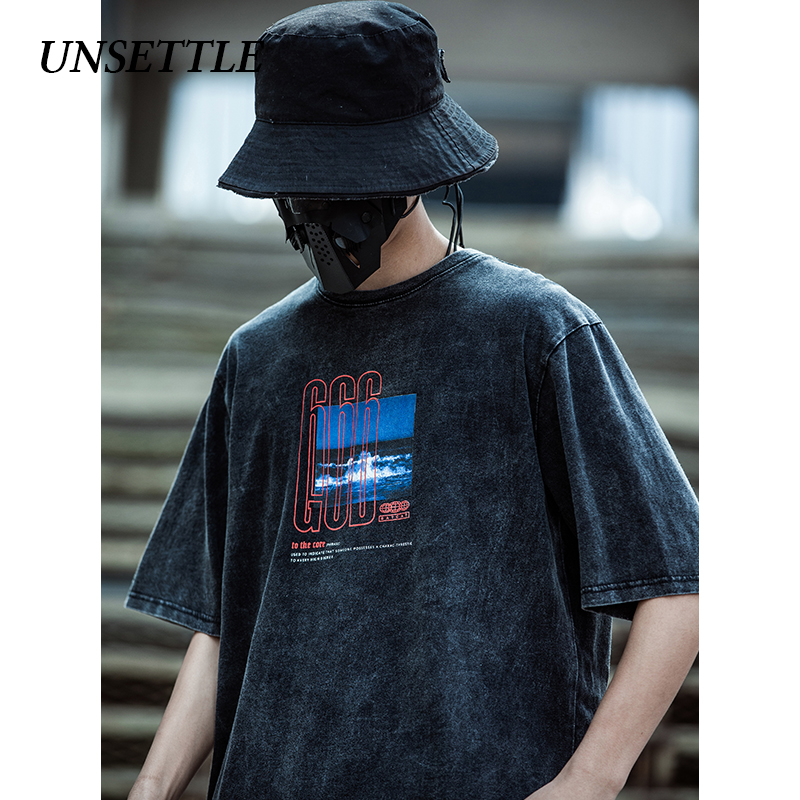 UNSETTLE 2020SS Harajuku T-shirts Make Old Men/Women Hip Hop Funny Print Ocean Tshirt  Streetwear T Shirts Tee Cotton Tops Tees