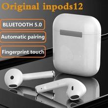 Inpods 12 tws fone de ouvido bluetooth sem fio esporte carregamento touc com tws para iphone xiaomi huawei samsung bluetooth 5.0