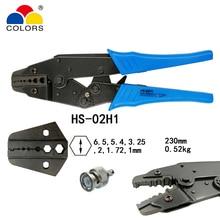 цена на COLORS HS-02H1 coaxial crimping pliers RG58/59/62,8X coaxial crimper SMA/BNC connectors carbon steel ratchet crimping tool