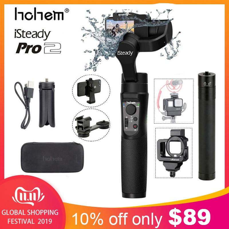 Hohem isconstante pro 2 handheld cardan estabilizador para gopro hero 8/7/6/5/4/3 dji osmo ação yicam sjcam câmeras de ação