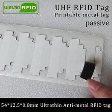 UHF RFID Ультратонкий Металл бирка 915 м 868 м Monza R6 54*12,5*0,8 мм EPC6C это фиксированные средства маленькая печатная Пассивная RFID синтетическая этикетка