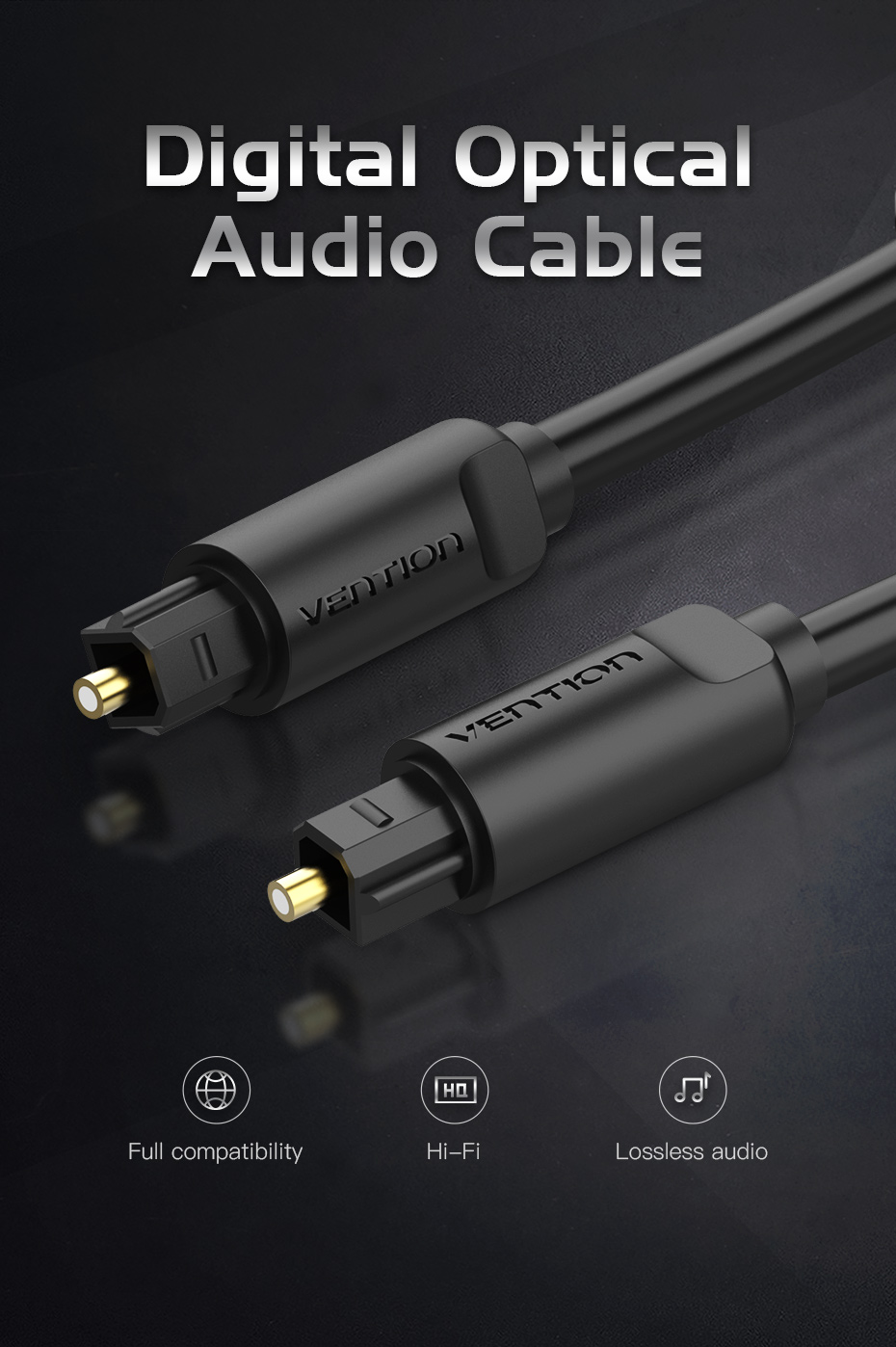 Home Theater PS4 Smart TV VENTION Fiber Toslink Audio Cable for Blu-ray CD DVD 6ft//2m Xbox Digital Optical Audio Cable