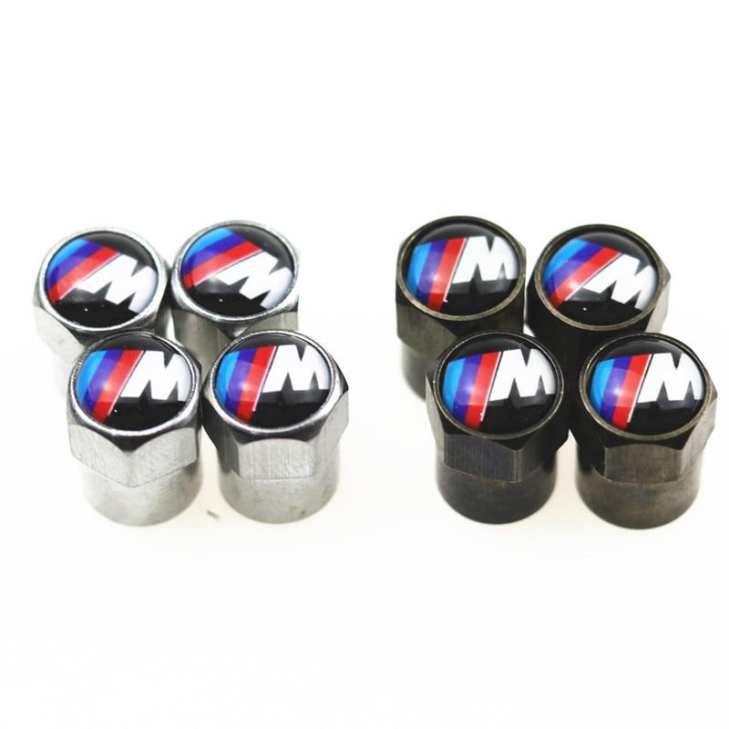 4 pièces de Pneu De Roue De Voiture Bouchon de Valve de Pneu D'air De Tige Casquettes Hermétique pour M3 M5 E36 E46 E60 E90 E92 BMW X1 F48 X3 X5 X6 Accessoires