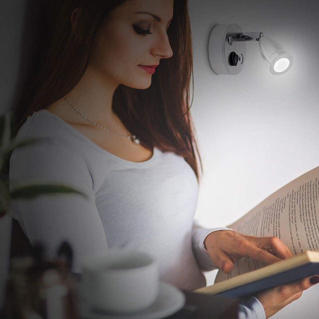 DC12V RV Camper LED Reading Light 100LM Ceiling Light Warm White Mounted LED Wall Lamp Car Black Interior Lamp Universal