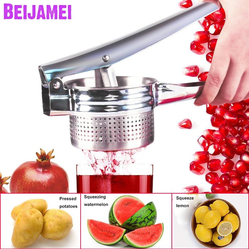 BEIJAMEI Manual Orange Lemon Juicer Small Pomegranate Squeezer Presser Multifunctional Potato Masher Kitchen Tools