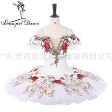Coppelia Disfraz de ballet profesional para competiton YAGP, tutú de pancake para mujer, paquita, BT9284