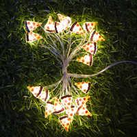 Guirnalda de luces de alambre de cobre para Pizza, 2M20LED, estrella, flamencos, decoración de tartas, regalos para novias, fiesta de cumpleaños