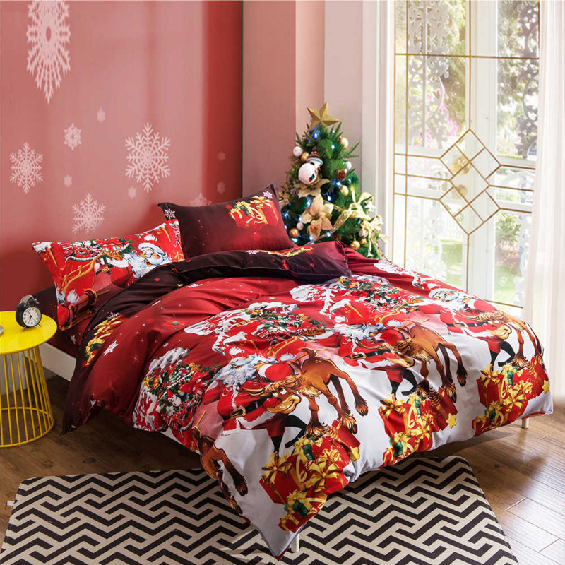 Image 3 - Yimeis Christmas Bedding Sets 3pcs Duvets And Linen Sets Comforter Bedding Double Bed BE45201-in Bedding Sets from Home & Garden