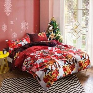 Image 3 - Yimeis Weihnachten Bettwäsche Sets 3 stücke Bettdecken Und Bettwäsche Sets Tröster Bettwäsche Doppelbett BE45201