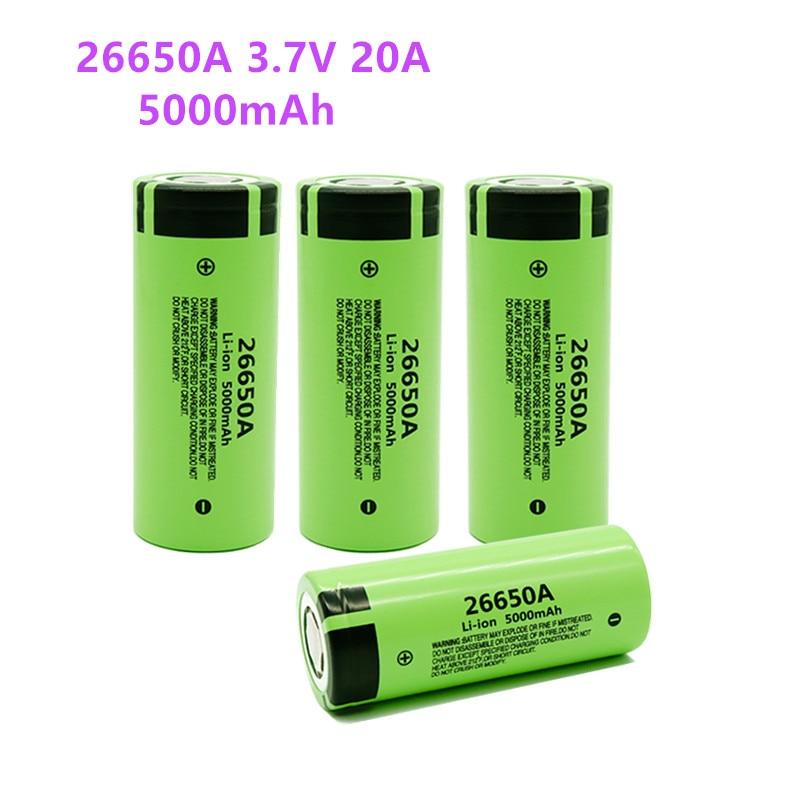 1-10 шт., литий-ионная аккумуляторная батарея 3,7 А, 5000 в, 26650 мАч
