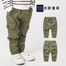 Длинные штаны для мальчиков повседневные брюки-карго; коллекция года; сезон осень-весна; детская одежда; Новинка; тренд для малышей; U9727