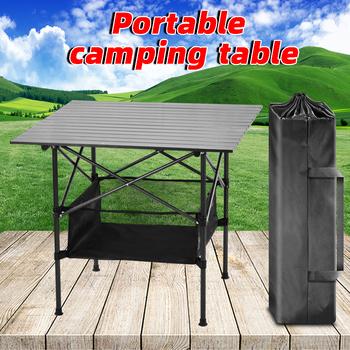 Odkryty stół kempingowy stół składany camping plecak stół stół ogrodowy stoły ogrodowe składany camping stół piknikowy piesze wycieczki tanie i dobre opinie NoEnName_Null CN (pochodzenie) Outdoor multifunctional folding table 50kg-80kg L80cmW82cmH70cm L20cmW14cmH81cm 4 78kg Aluminum alloy