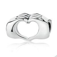 Strollgirl 100% Серебро 925 пробы символ любви любовь бусина-Шарм в форме сердца Fit Pandora браслет ювелирные изделия подарок на день Святого Валентина ...