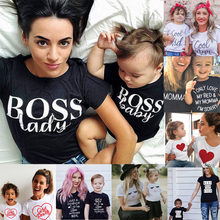 Family Tshirts Boys Girls Mom Mother Mommy and Daughter Son Family T-shirt Famil