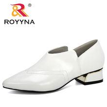Женские офисные туфли royyna классические из микрофибры на среднем