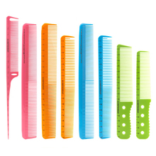 6 Pcs/Set Professional Barber Comb Salon Hairdressing Hair Cutting with Scale Hairdresser Tool Measuring