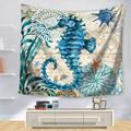 Морские гобелены с изображением животных Настенный Коврик для сна настенный гобелен искусство круглое полотенце пляжное одеяло гостиная д...