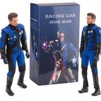 Iron Man Figure HC Avengers Endgame Racing Car Real Clothes Iron Man Tony Stark Action Figure Collectible Model Toys Gift 32cm