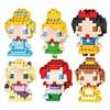 Disney Princess Building Blocks biancaneve Ariel cenerentola Belle Cartoon Mini mattoni figure giocattoli per bambini regalo