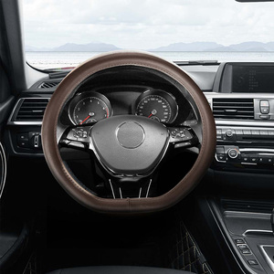 Image 2 - Maiwei housse de volant de voiture absorbant la sueur respirant couche supérieure entière peau de vache Fine couture à la main 37.5cm universel