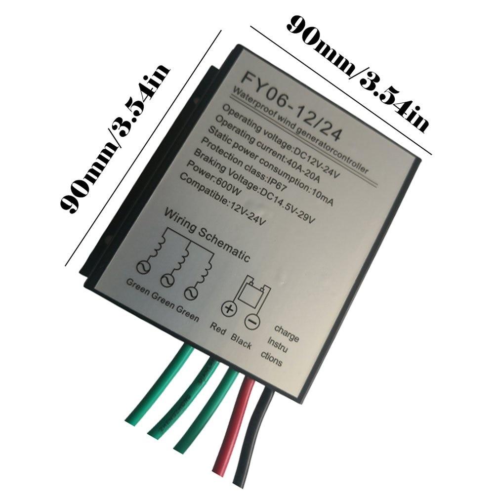 600 w controlador de turbina eólica 12v24v