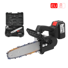 Chain Saw Cordless Electric Pruning-Saw-Kit Battery Fast-Charger Portable 21V 10-Inch
