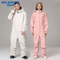Ski Suit Jacket One Piece Snowboard Overall Winter Waterproof Breathable Warm Men Women Skiing Snowboarding Jumpsuit