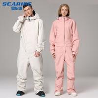 Ski Suit Jacket One Piece Snowboard Overall Winter Waterproof Breathable Warm Men Women Skiing Snowboarding Jumpsuit