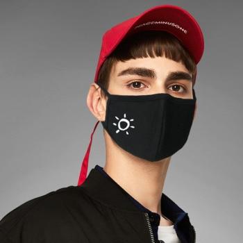 1pc Cotton Dustproof Mouth Face Mask Black Anti-Dust Cotton Cute 3D Stereo Pattern Women Men Muffle Face Mouth Masks