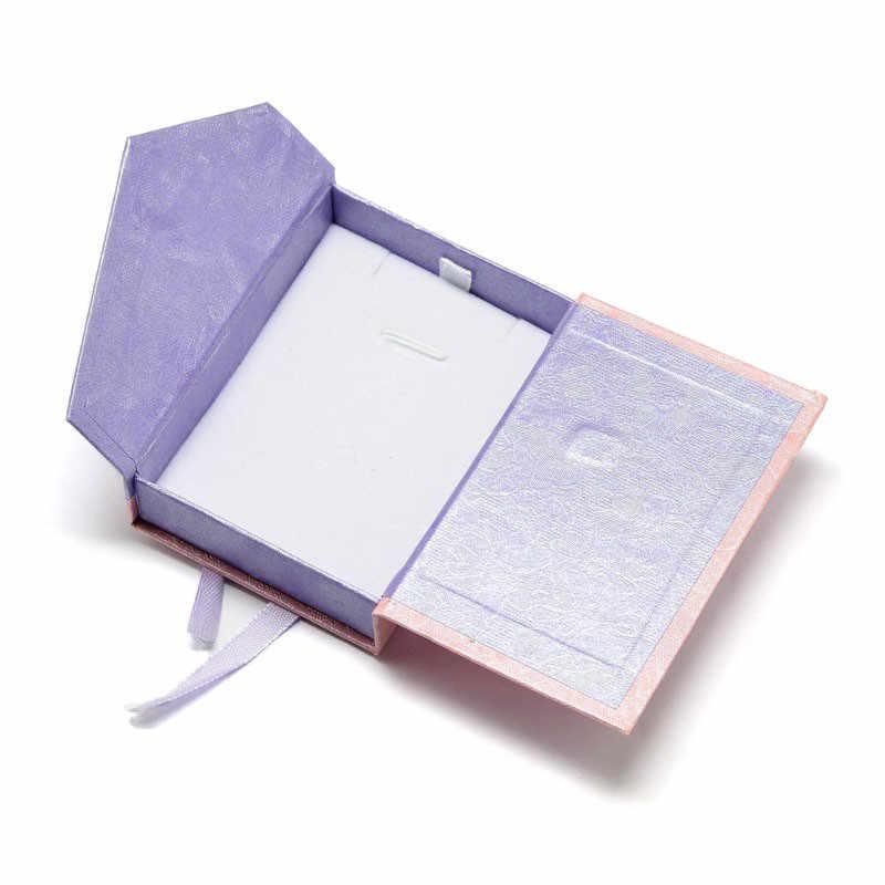 Caja de cartón de 40 piezas, rectangular, caja colgante, lila, 8,5x6,2x2,3 cm