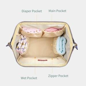 Image 3 - Sunveno Mommy Diaper Bag Large Capacity Baby Nappy Bag Designer Nursing Bag Fashion Travel Backpack Baby Care Bag for Mother Kid