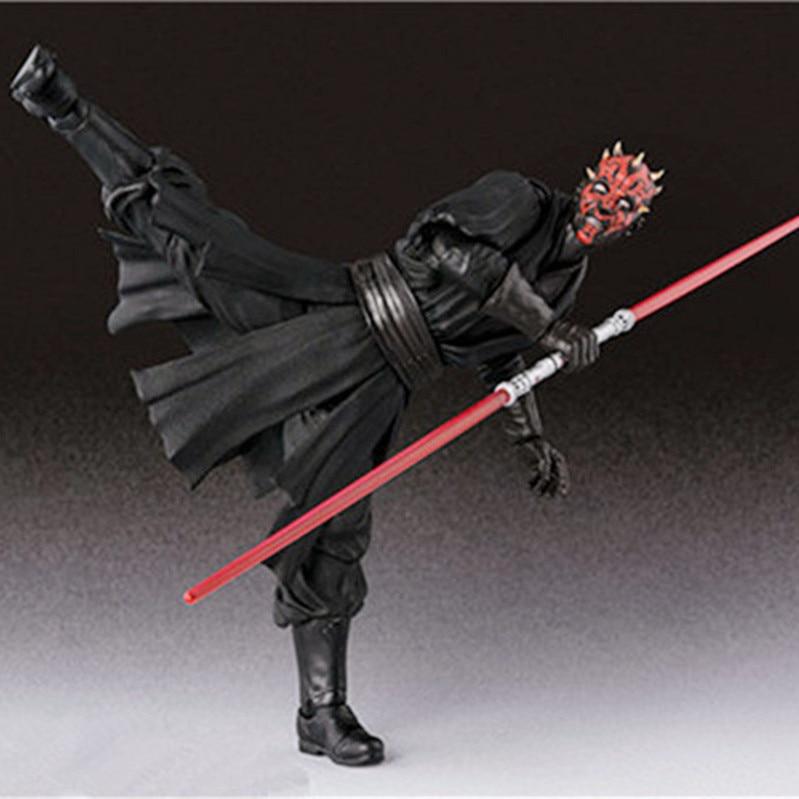 15cm Shf Star Wars Darth Maul Lightsaber Black Series Action Figures Super Movable Joints Face Change Pvc Models Gifts Figures 1