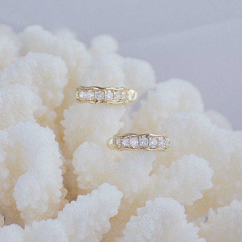 Bohemia Creative No Pierced Ear Earring for Women Vintage Inlaid Zirconia Ear Bone Clip Eearrings Wedding Jewelry for Bridal