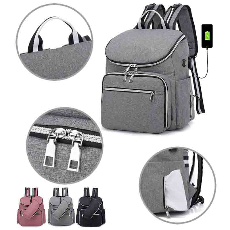 Diaper bags Fashion Mummy Maternity Diaper USB baby bag Backpack travel Multifunction waterproof bolsa Stroller kanken Baby Care image