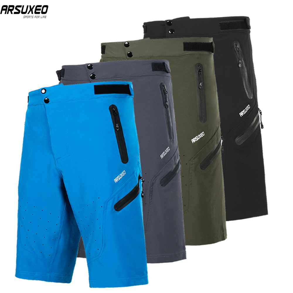 ARSUXEO Men's Cycling Shorts Bike Shorts Loose Fit Outdoor Sport Downhill MTB Mountain Bicycle Short Pants Water Resistant 1703A