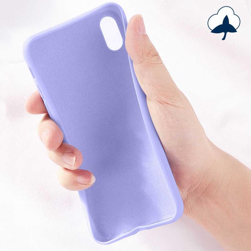 Líquido de silicona funda de teléfono para Xiaomi Mi A3 A2 9 Lite 10 9T Mi9T en Redmi Nota 9 Pro 7 5 6 8 8T K30 K20 Pro Redmi 8 8A 7A cubierta