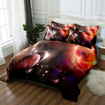Star Wars Bedding set Red Planet Pattern Children Bedroom Duvet Cover set Soft Fabric Quilt Cover Pillowcase Double Bedding set