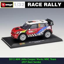 Bburago 1:32 2012 MINI #37 DS WRC Rally Racing Alloy Model Car model Collecting gifts