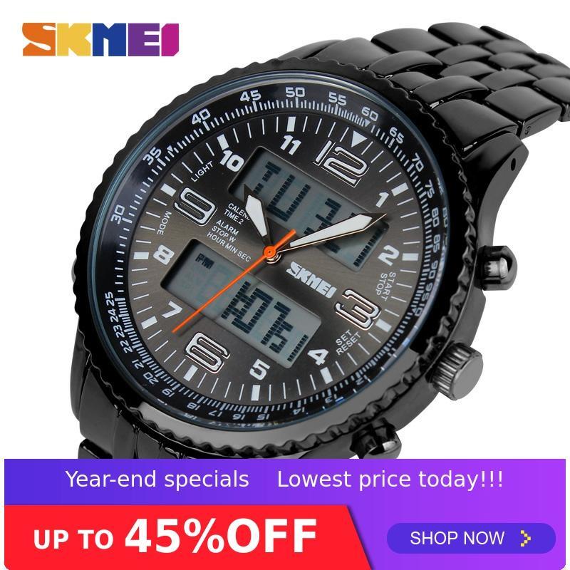 SKMEI Outdoor Sport Watch Men Alarm Chrono Calendar Waterproof 3Bar Back Light Dual Display Wristwatches relogio masculino 1032