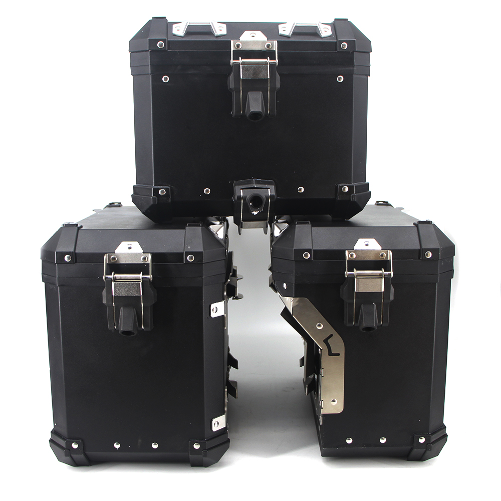 Image 2 - For R1200GS ADV LC R1250GS/ADV LC 2014 2019 Motorcycle Panniers Saddlebag Top Case Box Stainless Steel Orignal Style-in Covers & Ornamental Mouldings from Automobiles & Motorcycles