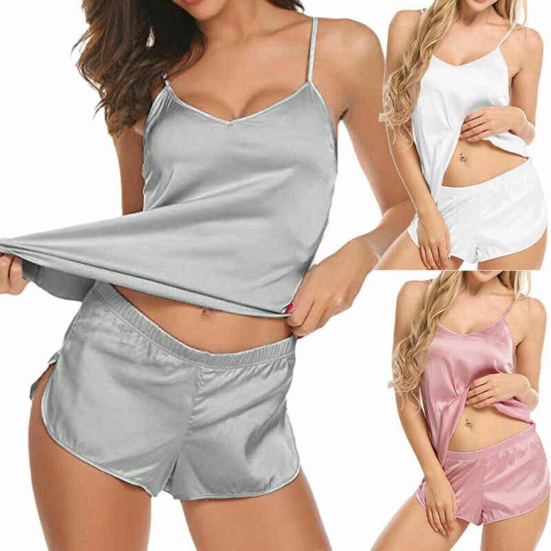 2020 seksi kadınlar katı sıcak bayan iç çamaşırı kıyafeti pijama seti iç çamaşırı pijama Sleepsuit