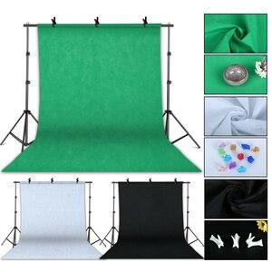 Image 2 - 写真フォトスタジオキット2 × 3メートルの背景の背景ソフトボックス照明キットスタンド傘ライトスタンド