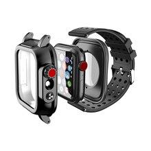 IP68防水ケースのためのシリコーンストラップ時計se 6 5 4 40ミリメートル44ミリメートルスポーツリストバンドのためのiwatch 3 2 1 38ミリメートル42ミリメートルバンド