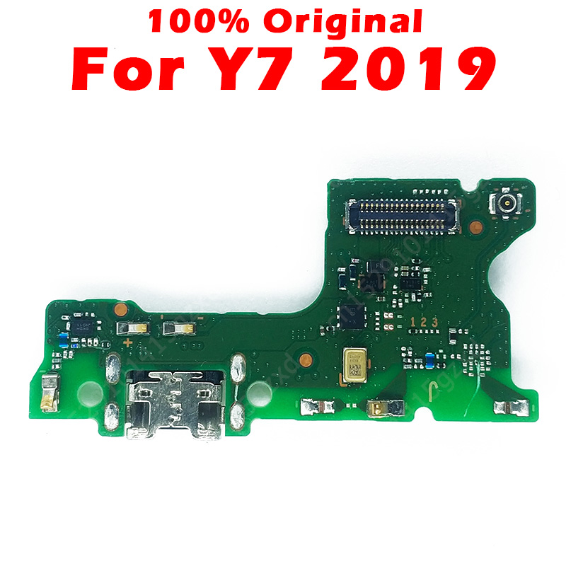 Original Charging Board For Huawei Y7 2019 USB Charging Port On Y7 2019 PCB Dork Connector Flex Cable Spare Parts