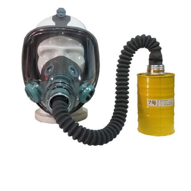 Painting Spray Gas Mask N95 Chemical Full-face Mask Respirator Long Tube Filter Pesticide Ammonia with Automatic Blower 3