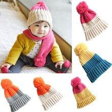 Cotton Beanie Hat For Born Kid Child Baby Boys Girls Soft To